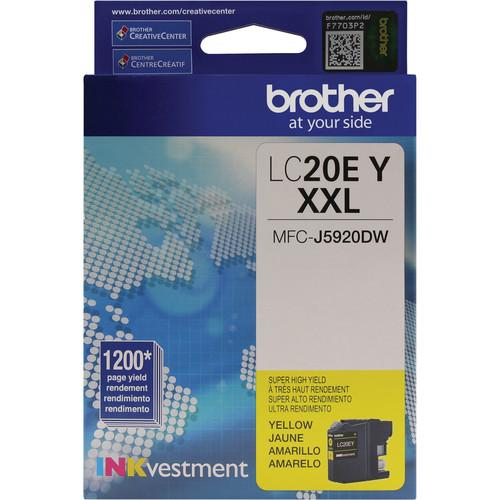 Brother LC20EY INKvestment Super High Yield Yellow Ink LC20EY