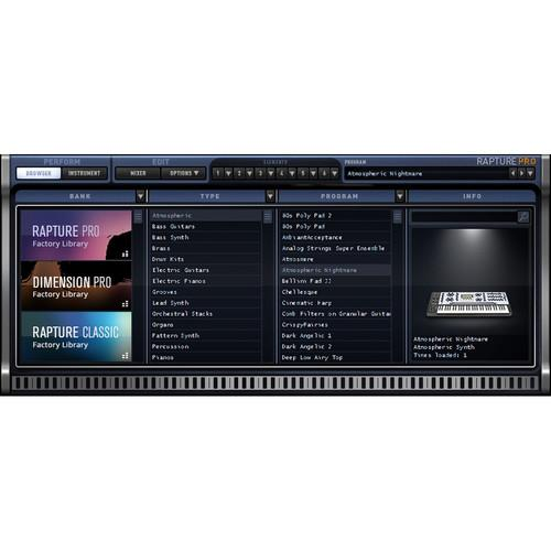 Cakewalk Rapture Pro Upgrade - Virtual 10-ODRP2.00-1ACE