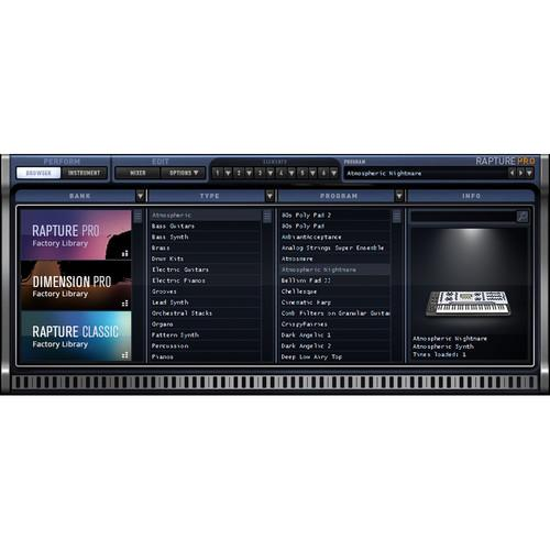 Cakewalk Rapture Pro - Virtual Performance 10-ODRP2.00-R0CE