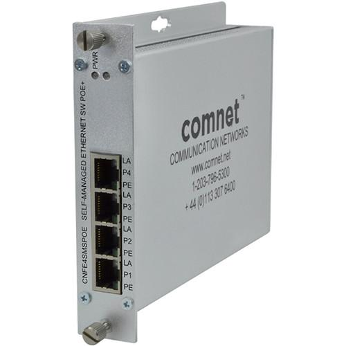 COMNET 4-Port Ethernet Self-Managed Switch with PoE CNFE4SMSPOE