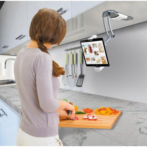 CTA Digital 2-in-1 Kitchen Mount Stand for All iPads PAD-KMS