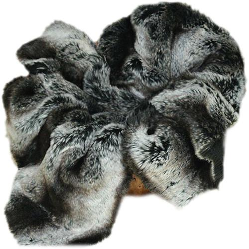 Custom Photo Props Black Chinchilla Faux Fur Basket Stuffer 1297