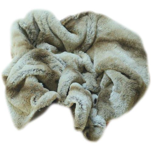 Custom Photo Props Brown Chinchilla Faux Fur Basket Stuffer 1300