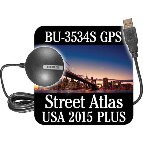 DeLorme BU-353S4 USB GPS Device with Street Atlas AE-008783-101