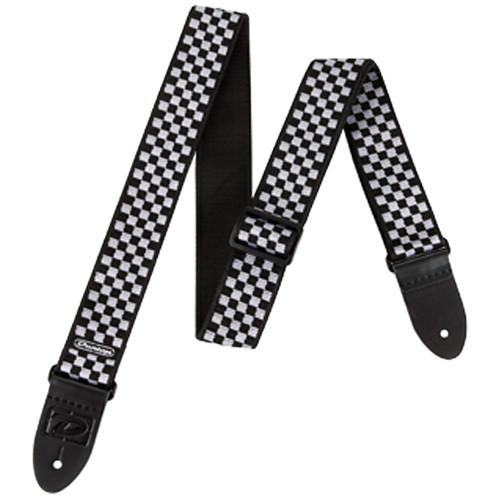 Dunlop D-38 Guitar Strap (Black & White Check) D3831BK