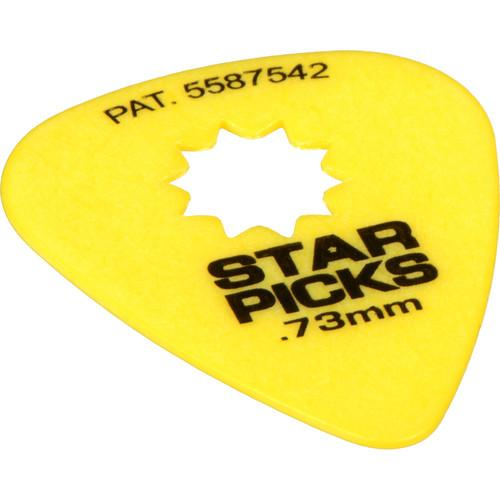 EVERLY Star Pick 12-Pack of Guitar Picks (.73mm, Yellow) 30023
