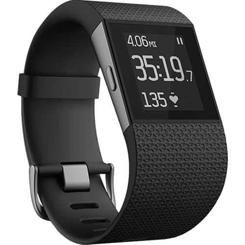 Fitbit Surge GPS Activity Tracking Watch (Large) FB501BKL