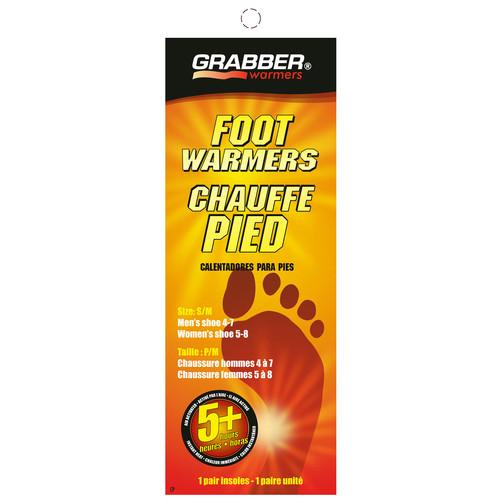 Grabber Pair of Foot Warmers - Single-Use Air-Activated FWSMES