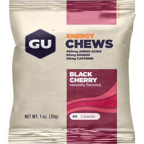 GU Energy Labs Energy Chews (24-Pack, Black Cherry) GU-123223