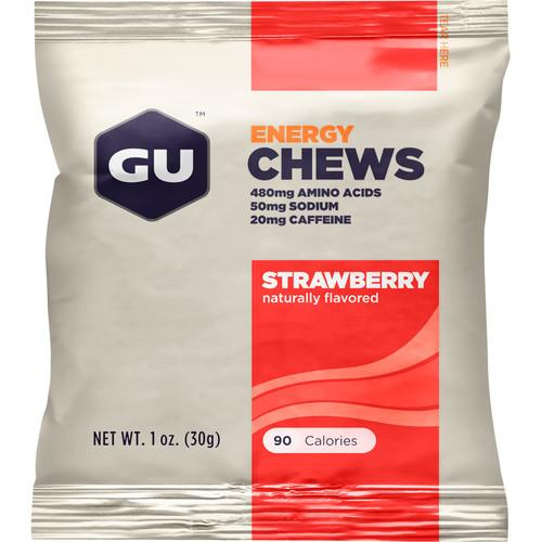 GU Energy Labs Energy Chews (24-Pack, Strawberry) GU-123217