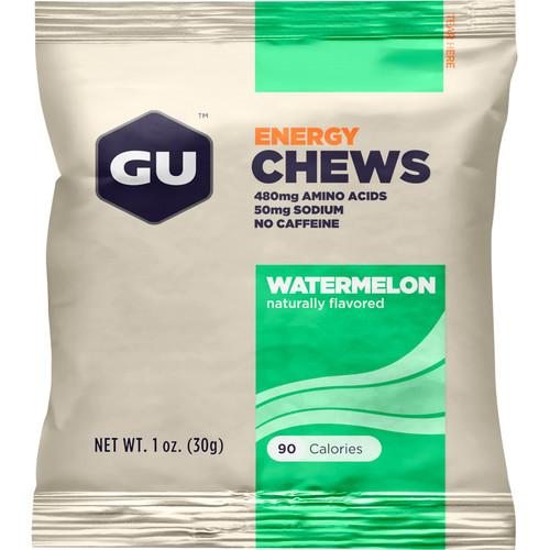 GU Energy Labs Energy Chews (24-Pack, Watermelon) GU-123220