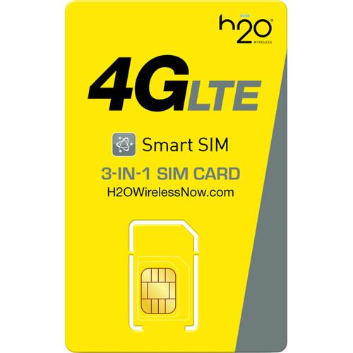 H2O WIRELESS  3-in-1 SIM Card TRIPLE-SIM-KIT