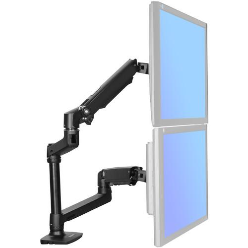 Halter Adjustable Dual Monitor Arm (Black) MPKFTLT007BK