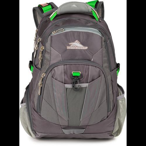 High Sierra XBT TSA Backpack (Charcoal Silver Kelly) 57999-4177