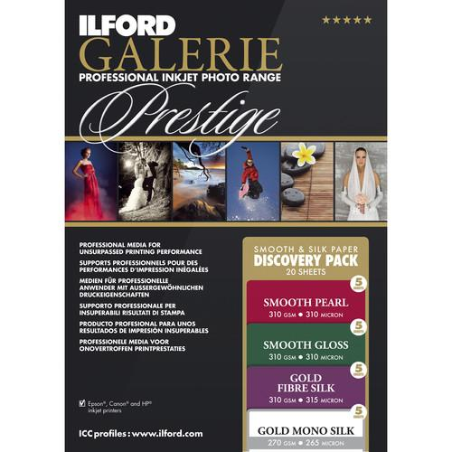 Ilford GALERIE Prestige Smooth Silk Paper Discovery Pack 2004977