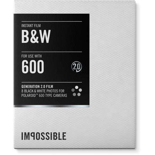Impossible Black & White 2.0 Instant Film for Polaroid 3834