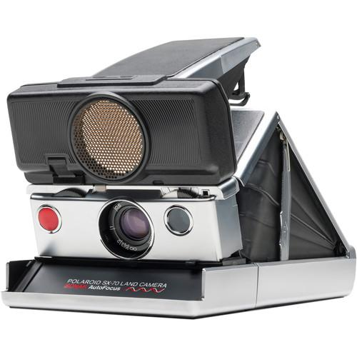 Impossible Polaroid SX-70 Sonar Instant Film Camera (Silver)