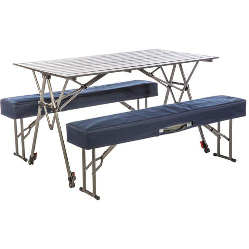 KAMP-RITE Kwik Set Table with Folding Benches KSTB224