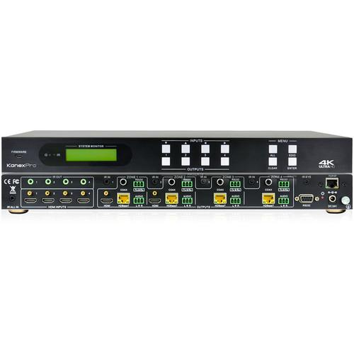KanexPro 4K HDBaseT 4x4 Matrix Switcher MX-HDBASE4X4-4K
