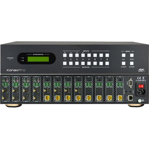 KanexPro 4K HDBaseT 8x8 Matrix Switcher MX-HDBASE8X8-4K