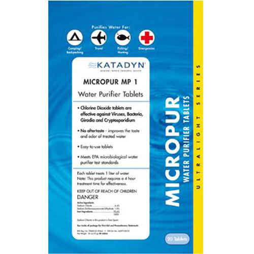 Katadyn Micropur Purification Tablets (20-Pack) 8014996