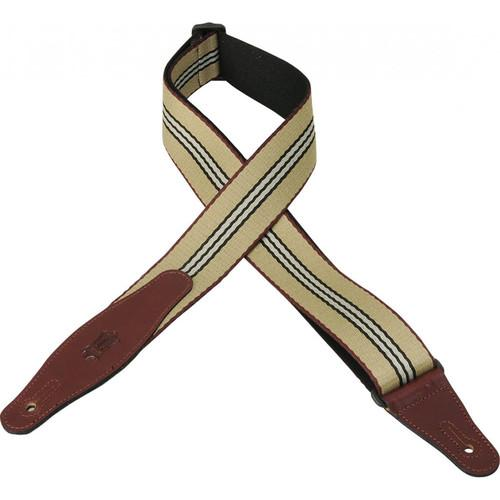 Levy's Woven Guitar Strap with Leather Ends MSSW80-002
