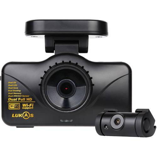 Lukas 1080p Wi-Fi Front and Rear Dash Camera with GPS LK-7950G