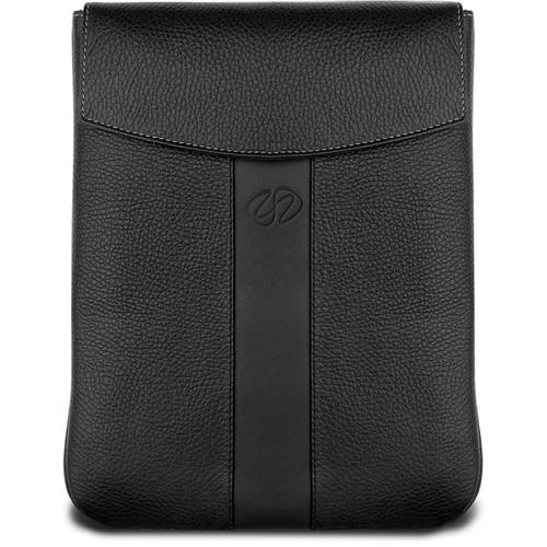 MacCase Premium Leather iPad Sleeve (Vertical, Black) LPADSL-BKV
