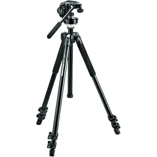 Manfrotto 294 Aluminum Tripod with 128 RC Fluid MK294A3-128RC