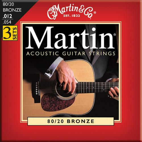 MARTIN Acoustic 80/20 Bronze Guitar Strings (3-Pack) M140PK3