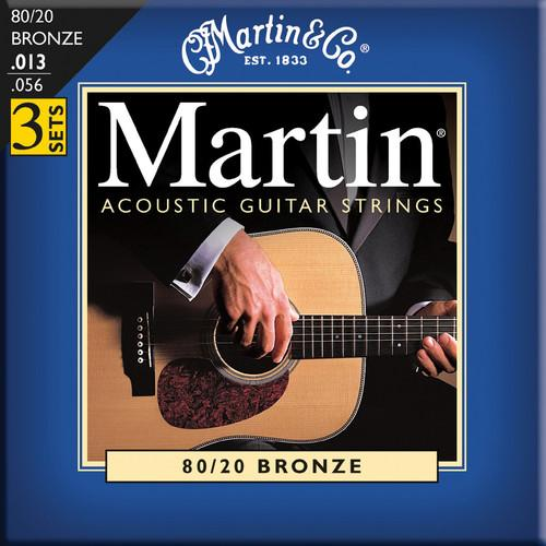 MARTIN Acoustic 80/20 Bronze Guitar Strings (3-Pack) M150PK3