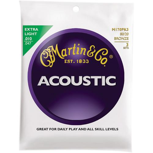 MARTIN Acoustic 80/20 Bronze Guitar Strings (3-Pack) M170PK3