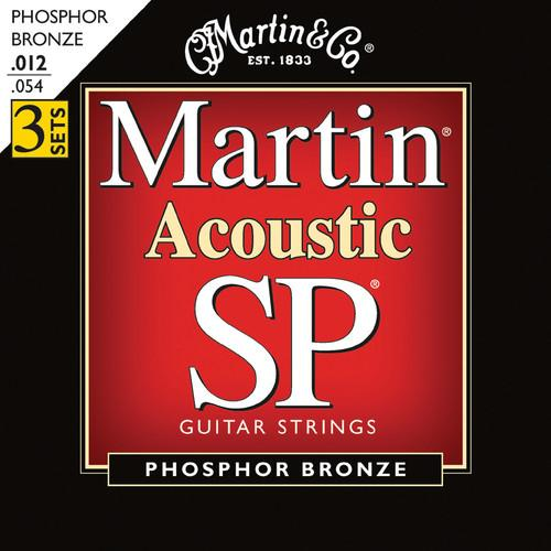 MARTIN Acoustic SP Phosphor Bronze Guitar Strings MSP4100PK3