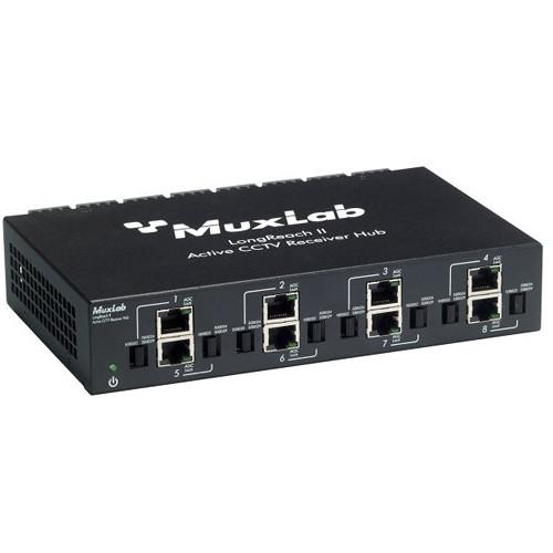 MuxLab 8-Channel LongReach II Active CCTV Receiver Hub 500126