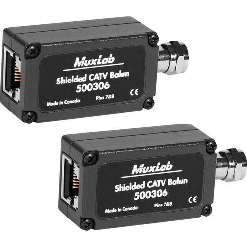MuxLab  Shielded CATV Balun (2-Pack) 500306-2PK