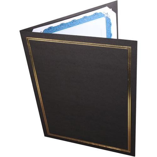 National Photo Folders Black/Gold Premier Certificate FCHB8511P