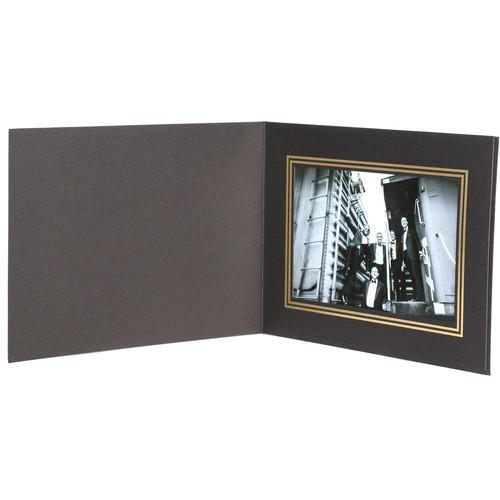 National Photo Folders Black/Gold Premier Photo Folder BGPF64P