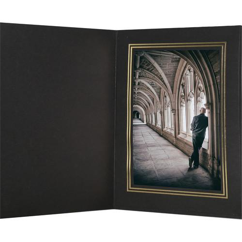 National Photo Folders Black/Gold Premier Photo Folder BGPF810P