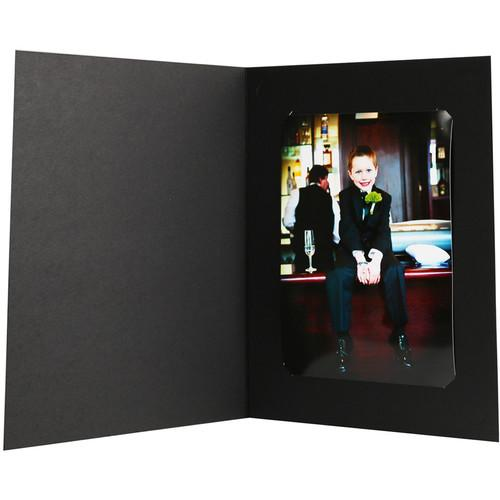 National Photo Folders Black Slit-Cut Photo Folder BSC810/68P