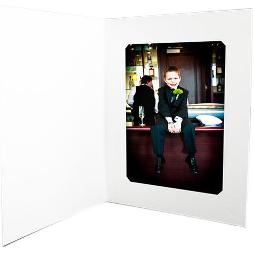 National Photo Folders White Slit-Cut Photo Folder WSC46/57P