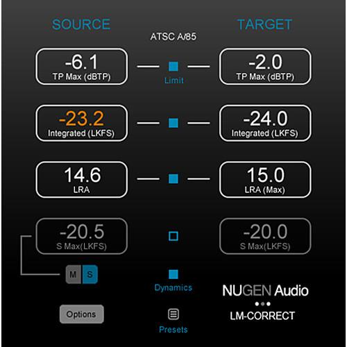NuGen Audio LM-Correct 2 Upgrade - Auto Loudness 11-33173