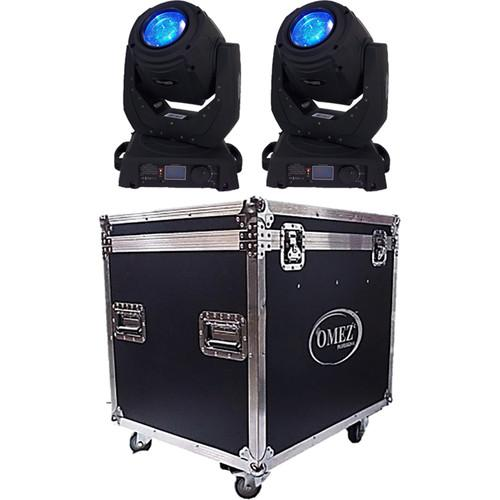 OMEZ TitanBeam 2R Moving Head Beam LED Fixture with Dual OM321