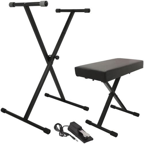 On-Stage Keyboard Stand/Bench Pak with KSP100 Sustain KPK6550