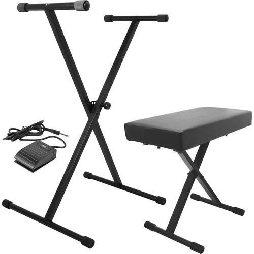 On-Stage Keyboard Stand/Bench Pak with KSP20 Sustain KPK6520