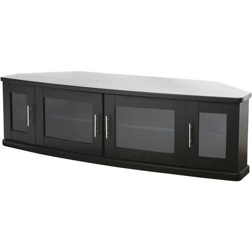 PLATEAU Newport 62 Corner TV Stand (Black Oak) NEWPORT 62 (B)