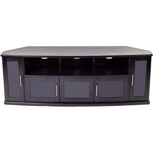 PLATEAU Newport 80 Corner TV Stand (Black Oak) NEWPORT 80 (B)