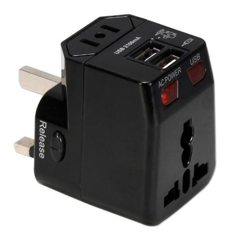 QVS Premium World Power Travel Adapter Kit (Black) PA-C4BK