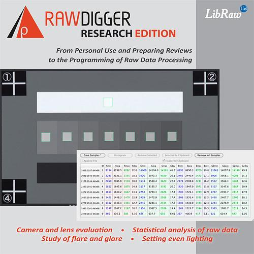RawDigger RawDigger Software, Research Edition (Download) RD1RE