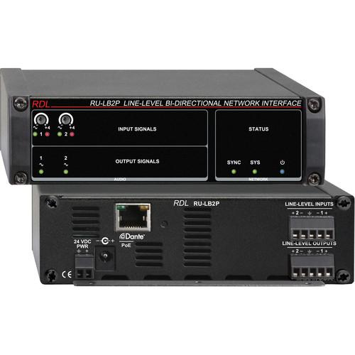 RDL RU-LB2P Line-Level Bi-Directional Network Interface RU-LB2P