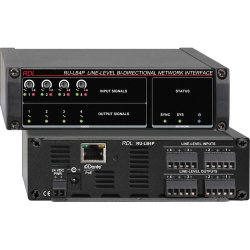 RDL RU-LB4P Line-Level Bi-Directional Network Interface RU-LB4P